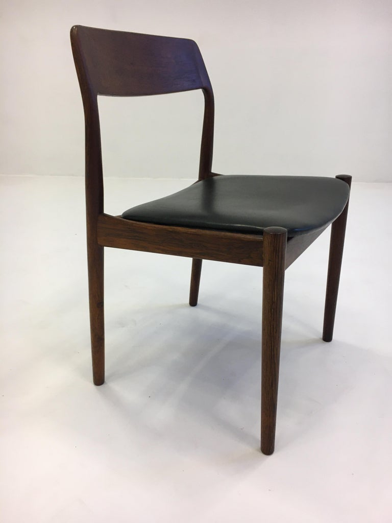 Johannes Nørgaard Mid-Century Modern Danish Dining Chairs, Denmark 1950s For Sale 10
