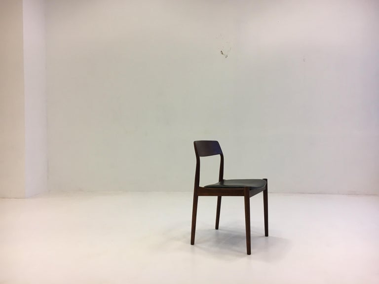 Johannes Nørgaard Mid-Century Modern Danish Dining Chairs, Denmark 1950s For Sale 11