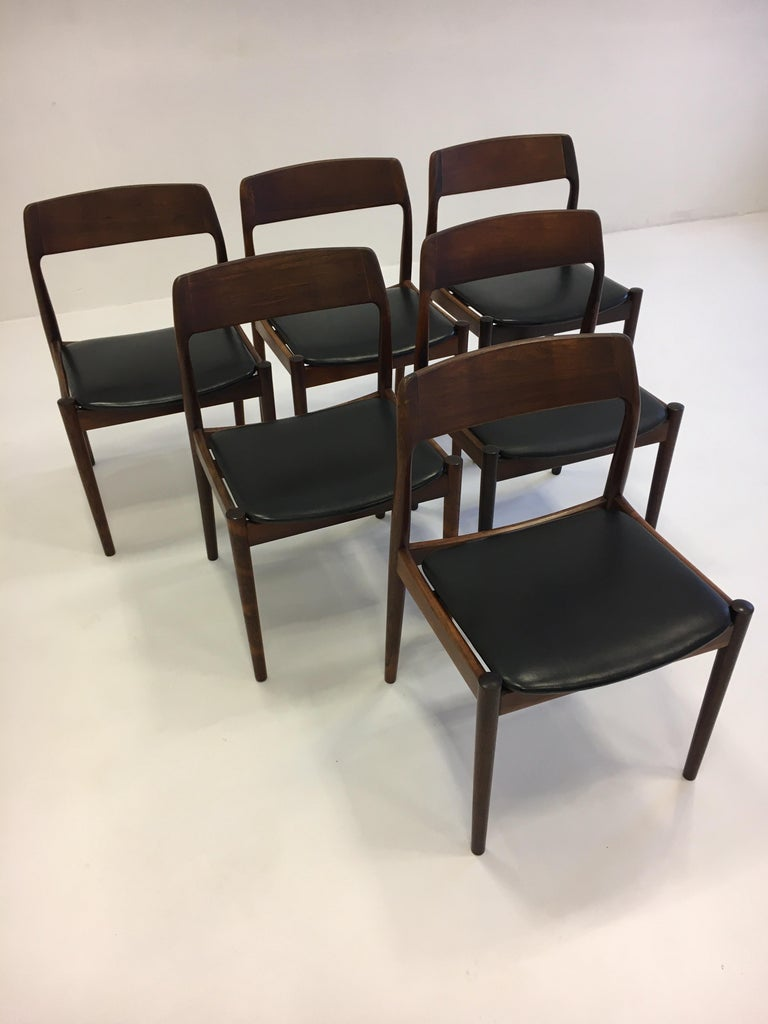 Johannes Nørgaard Mid-Century Modern Danish Dining Chairs, Denmark 1950s In Good Condition For Sale In Vienna, AT