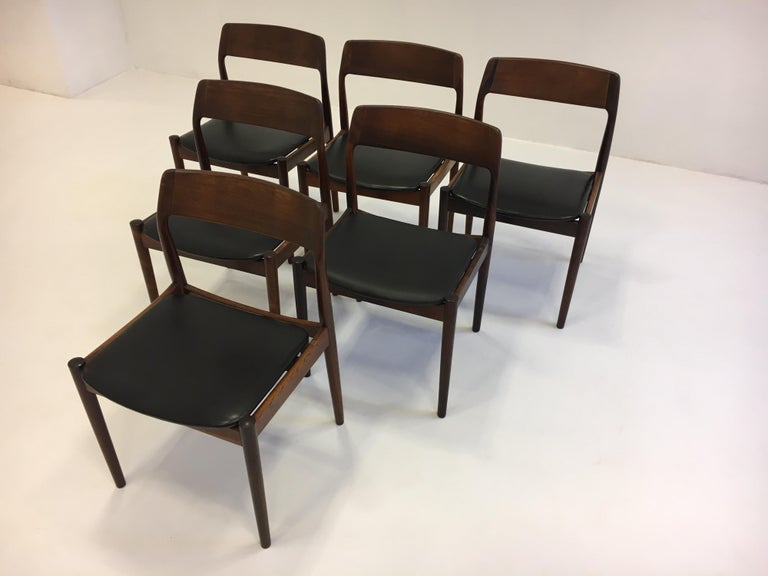 Mid-20th Century Johannes Nørgaard Mid-Century Modern Danish Dining Chairs, Denmark 1950s For Sale