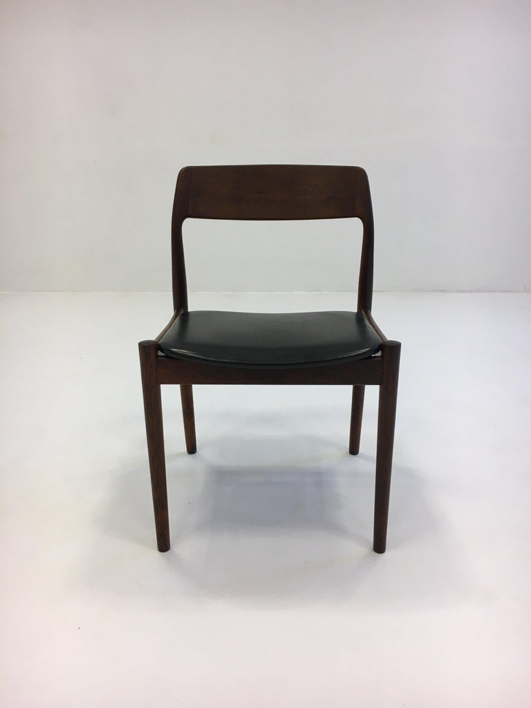 Johannes Nørgaard Mid-Century Modern Danish Dining Chairs, Denmark 1950s For Sale 3