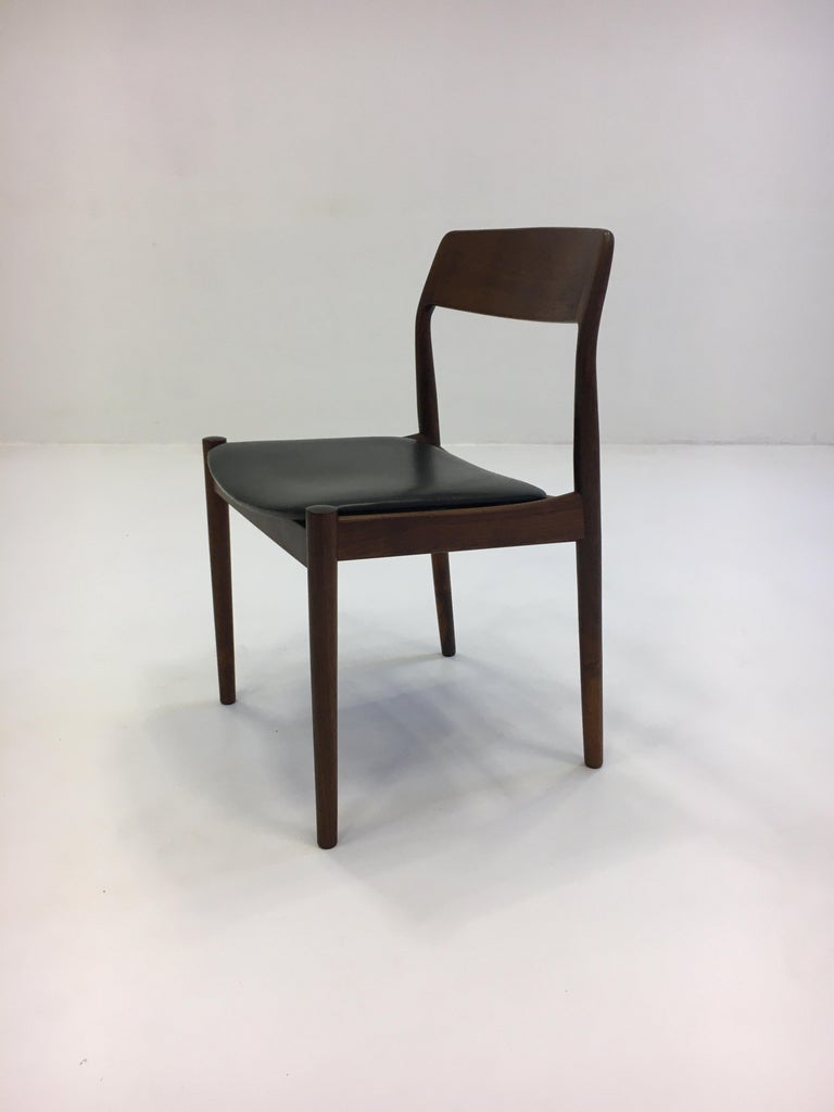 Johannes Nørgaard Mid-Century Modern Danish Dining Chairs, Denmark 1950s For Sale 4