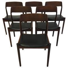 Johannes Nørgaard Mid-Century Modern Danish Dining Chairs, Denmark 1950s