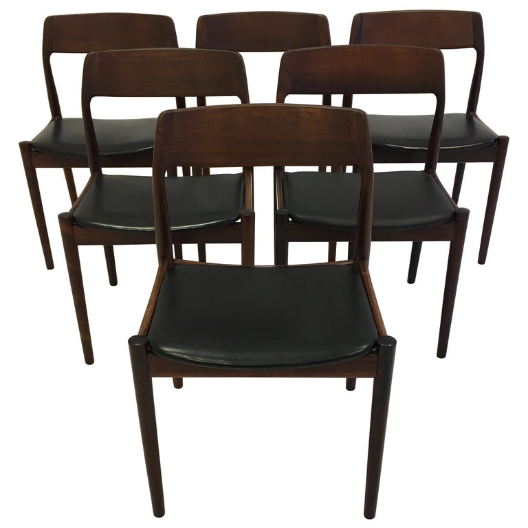 Johannes Nørgaard Mid-Century Modern Danish Dining Chairs, Denmark 1950s For Sale