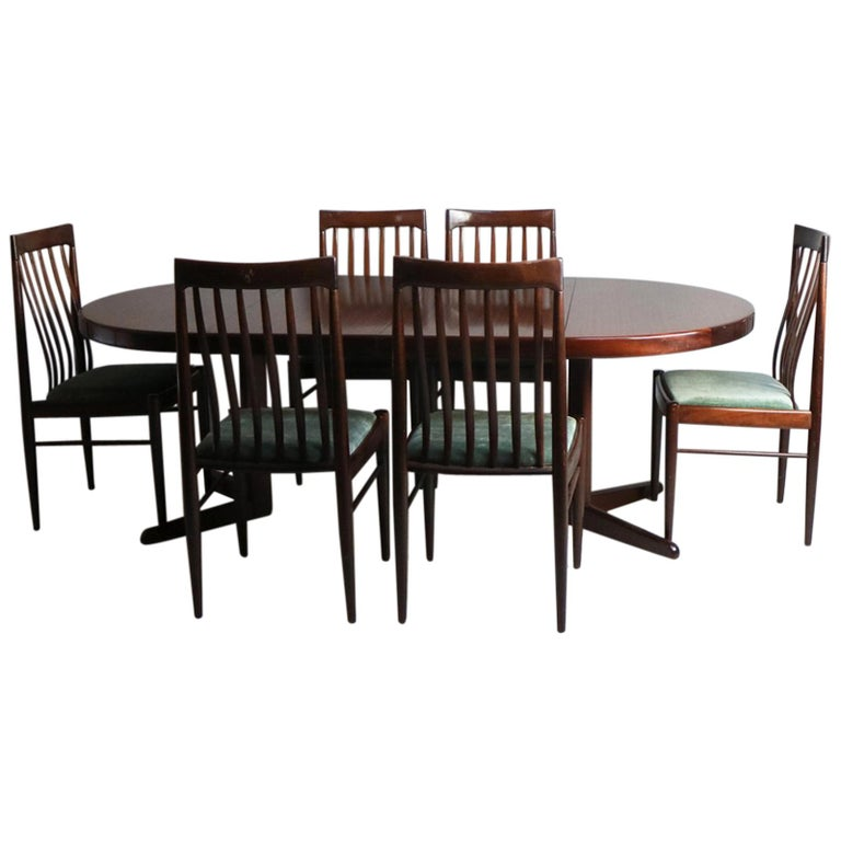 Modern Dining Table Sets On Sale: Mid-Century Modern Danish Dining Table And 6 Chairs By H.W