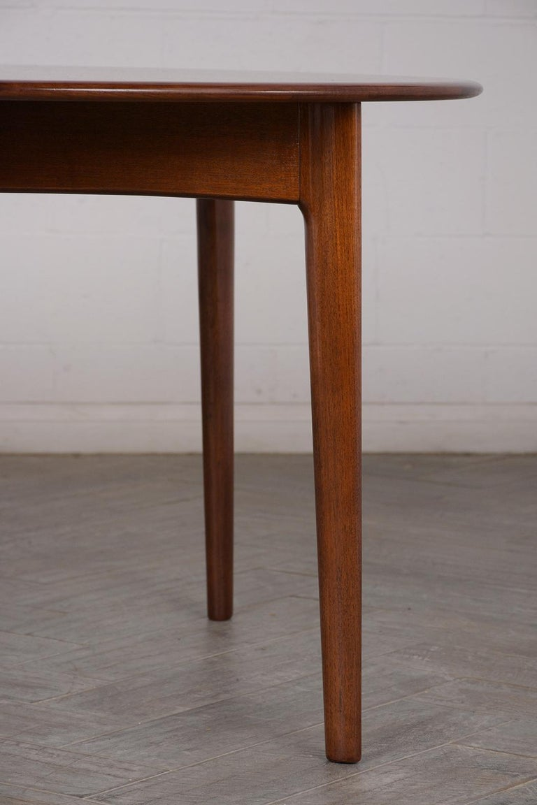 Danish Mid-Century Modern Lacquered Dining Table For Sale 4