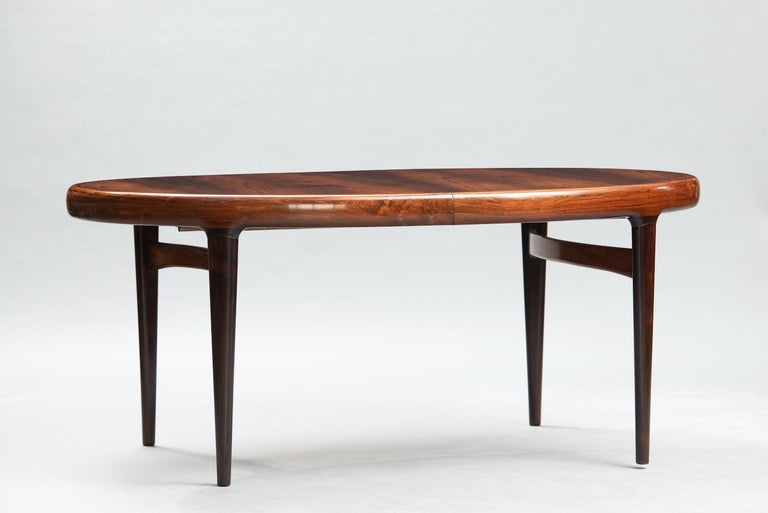Mid-Century Modern Danish extendible oval dining table