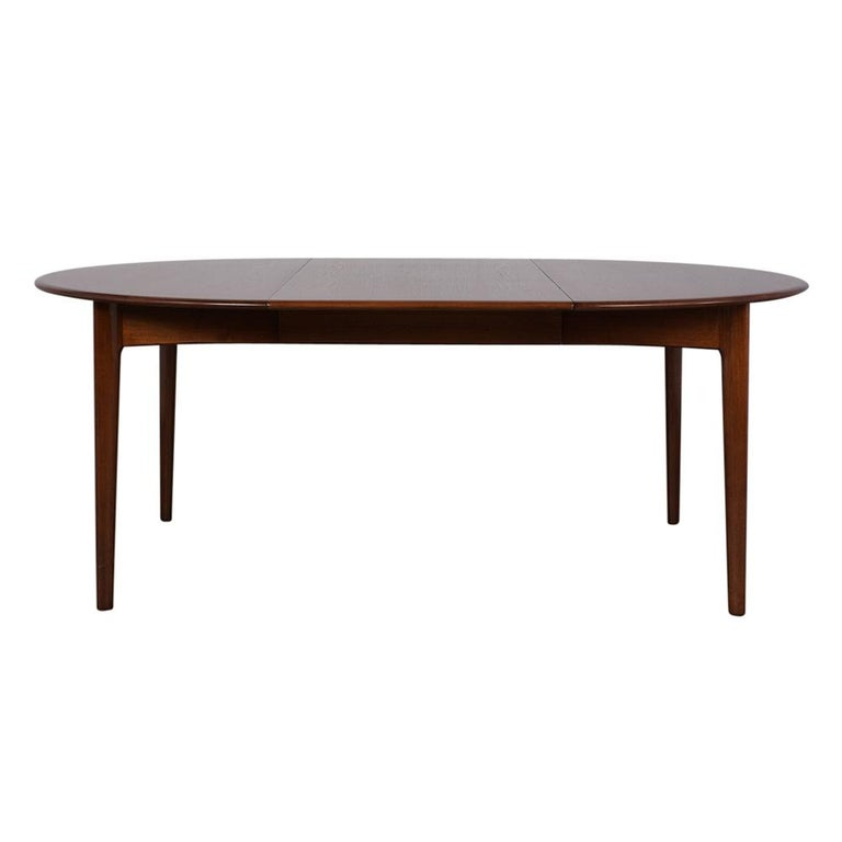 Carved Danish Mid-Century Modern Lacquered Dining Table For Sale