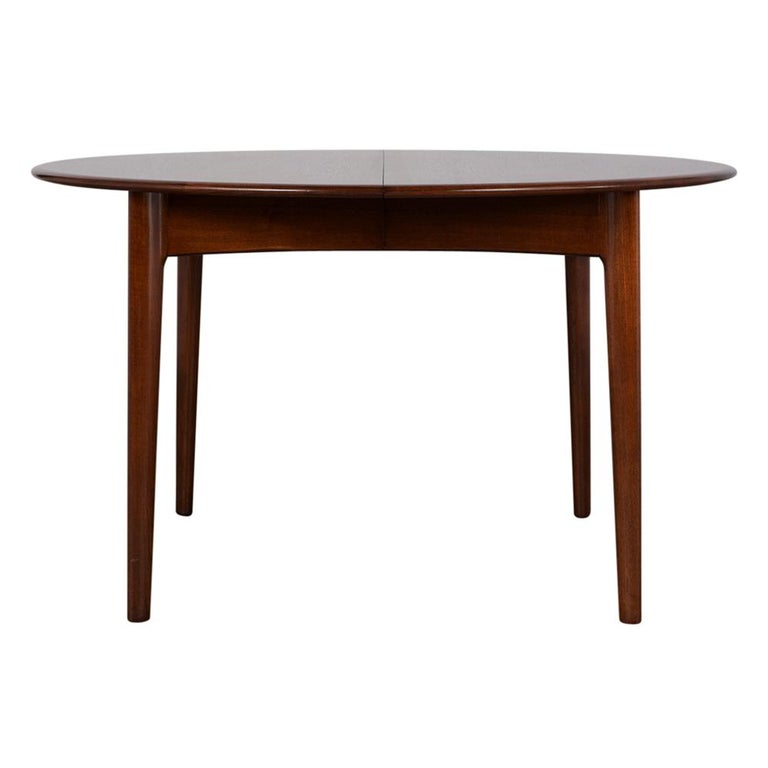 Danish Mid-Century Modern Lacquered Dining Table In Good Condition For Sale In Los Angeles, CA