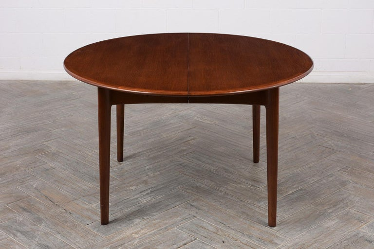 Wood Danish Mid-Century Modern Lacquered Dining Table For Sale