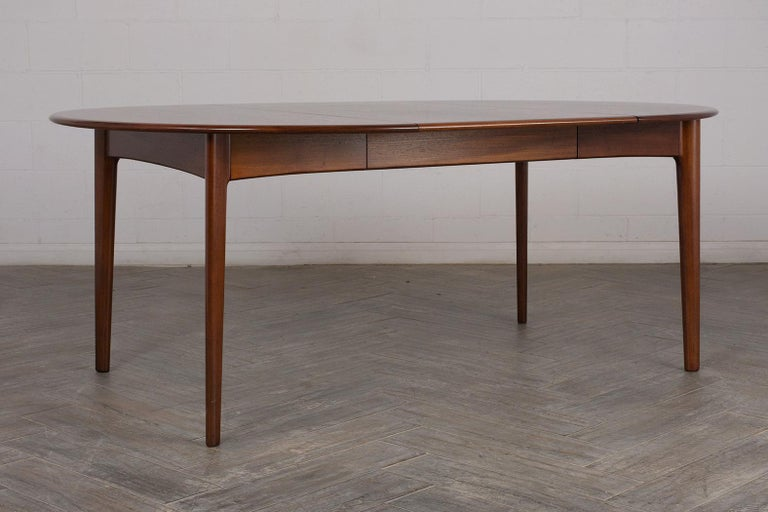 Danish Mid-Century Modern Lacquered Dining Table For Sale 2