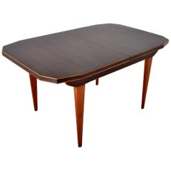 "Mid-Century Modern Danish Dining Table in Walnut with ""Butterfly"" Leaf, 1960s"