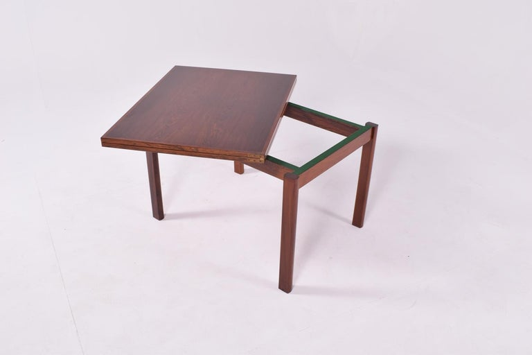 Rosewood Mid-Century Modern Danish Flip Top Coffee Table, 1960s For Sale