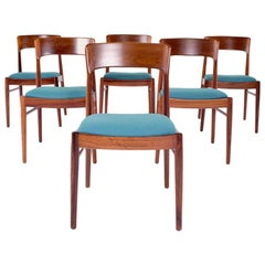 Mid-Century Modern Danish K.S. Møbler Rosewood Dining Chairs