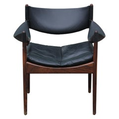 Mid-Century Modern Danish Lounge Chair in Rosewood Model Modus by Kristian Vedel