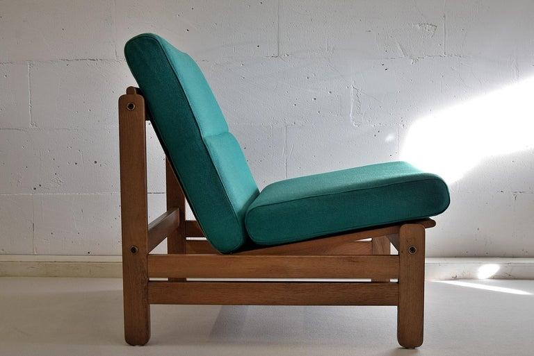 Oak Mid Century Modern Danish Lounge Set For Sale