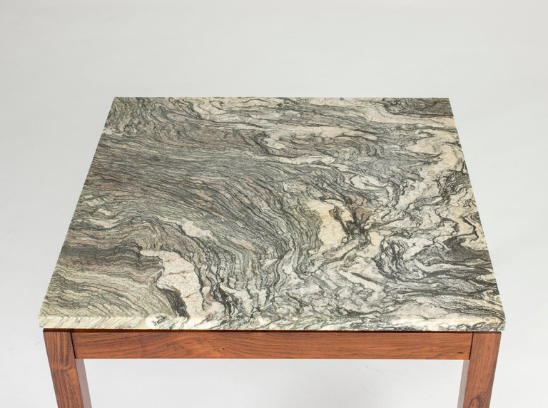 Mid-Century Modern Danish Marble Table In Good Condition For Sale In Stockholm, SE