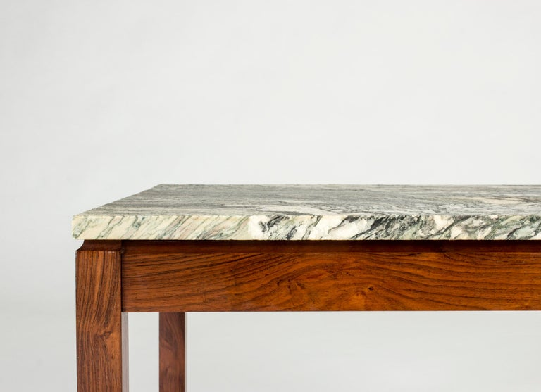 Mid-20th Century Mid-Century Modern Danish Marble Table For Sale