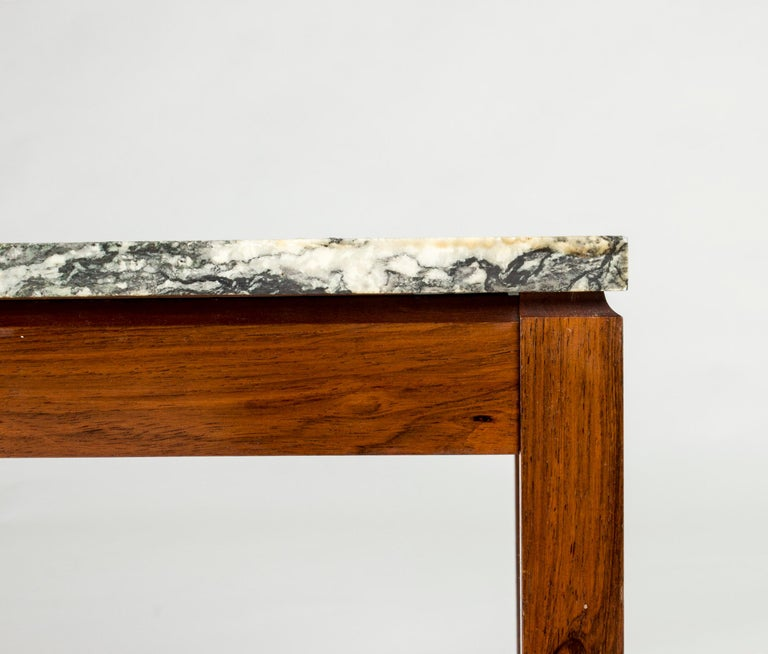 Rosewood Mid-Century Modern Danish Marble Table For Sale