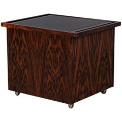 Mid-Century Modern Danish Pop Up Bar Table Cabinet