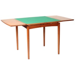 Mid-Century Modern Danish Reversible and Extending Card Table