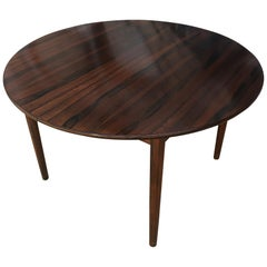 Mid-Century Modern Danish Rosewood Expandable Dining Table 1 Nesting Leaf