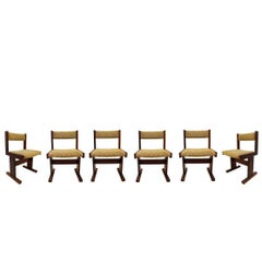 Mid-Century Modern Danish Rosewood Set of Six Side Dining Chairs, 1960s