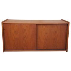 Mid-Century Modern Danish Scandinavian Cabinet Shelf Coffee Table Console Stand