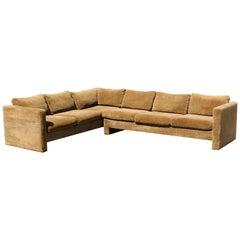 Mid-Century Modern Danish Selig 2 Pc Sofa Sectional, 1970s