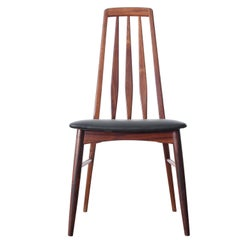 Mid-Century Modern Danish Set of 8 Chairs in Rosewood Model Eva by Niels Kof