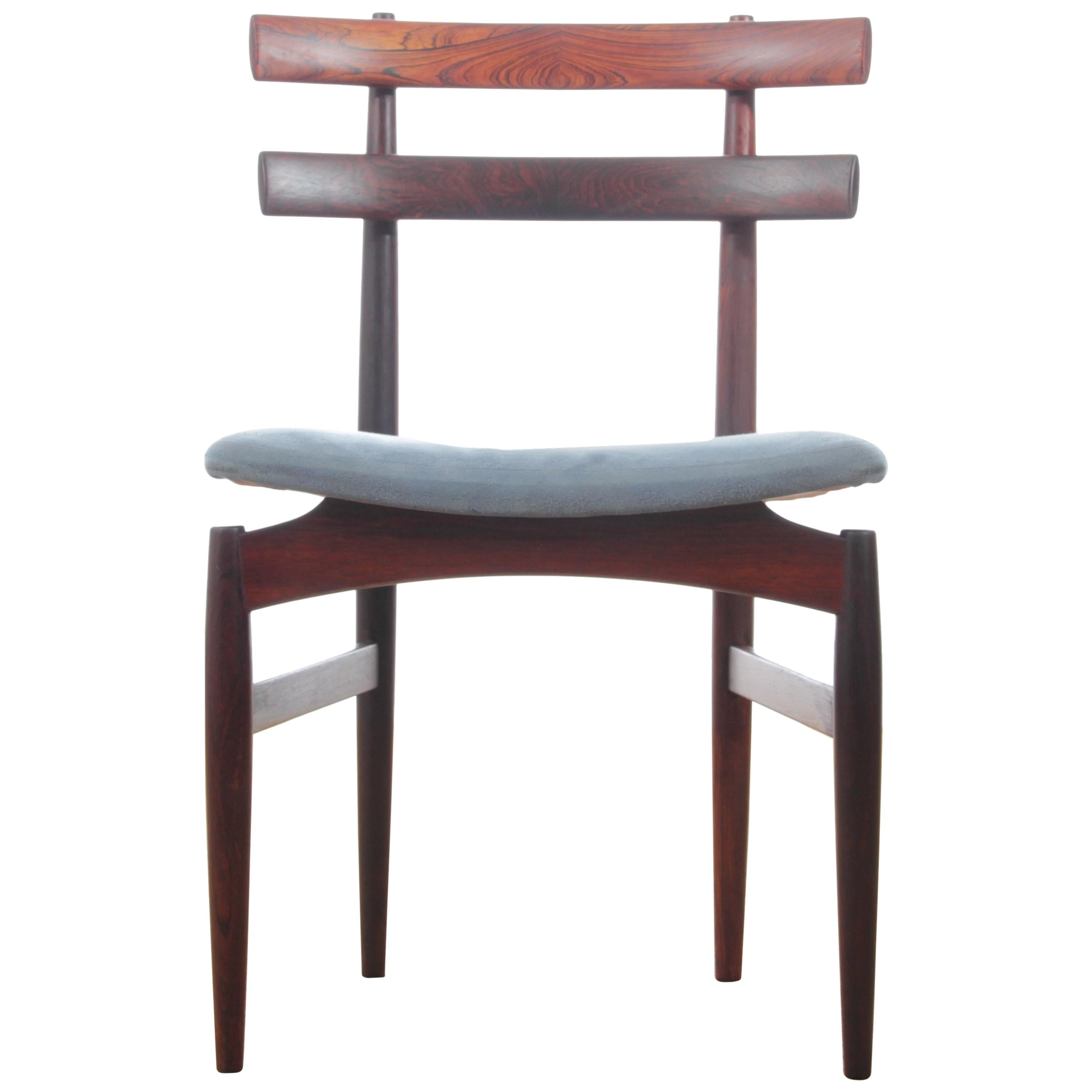 Mid-Century Modern Danish Set of Six Chairs in Rosewood by Poul Hundevad