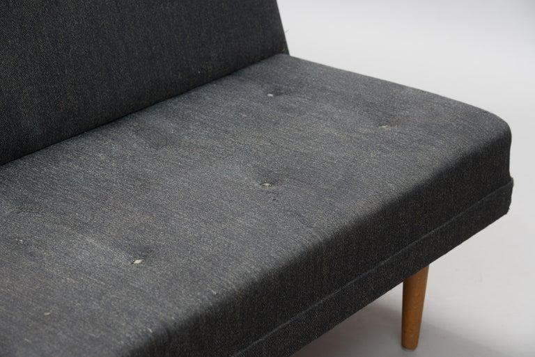 Varnished Mid-Century Modern Danish Sofa For Sale