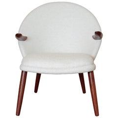 Mid-Century Modern Danish Style Armchair Vintage Restored  Mid Century