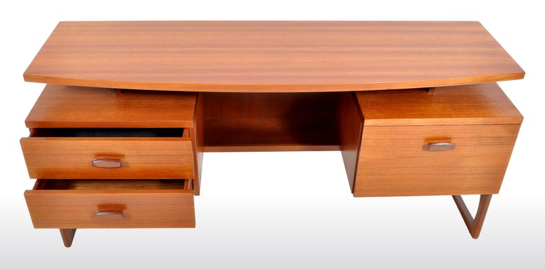 20th Century Mid-Century Modern Danish Style Teak Desk by Ib Kofod-Larsen for G Plan, 1960s For Sale