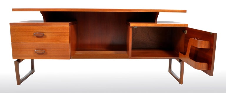 Mid-Century Modern Danish Style Teak Desk by Ib Kofod-Larsen for G Plan, 1960s For Sale 1