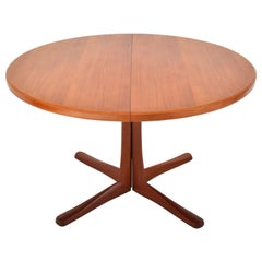 Mid-Century Modern Danish Style Teak Dining Table with Twin Leaves by McIntosh