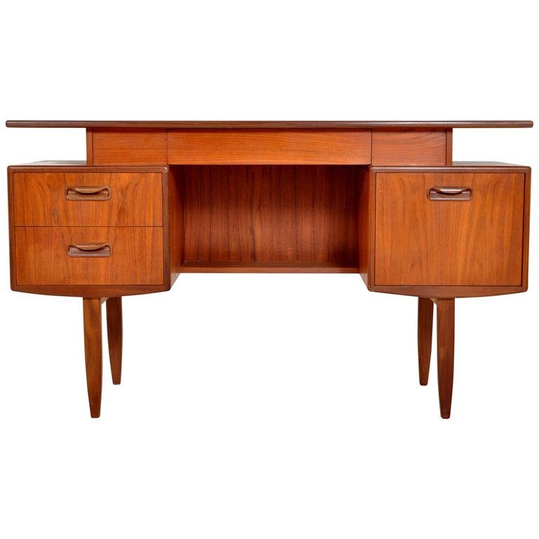 "Mid-Century Modern Danish Style Teak ""Fresco"" Floating Top Desk by G Plan, 1960s"