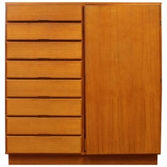 Mid-Century Modern Danish Teak 10-Drawer Highboy Dresser