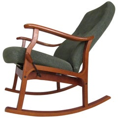 Mid-Century Modern Danish Teak Adjustable Rocking Chair