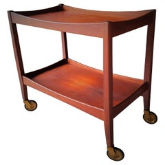 Mid-Century Modern Danish Teak Bar Cart Trolley, 1960s