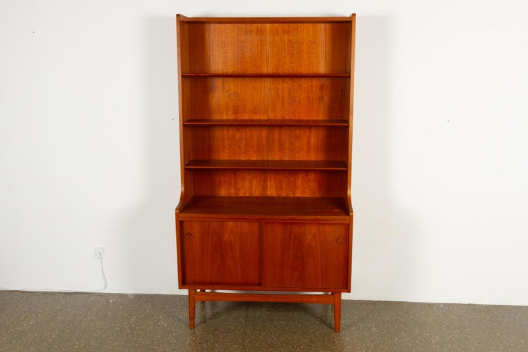 Mid-Century Modern Danish Teak Bookcase, 1960s In Good Condition In Nibe, Nordjylland