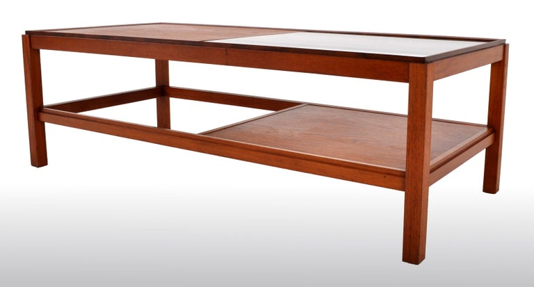 Mid-Century Modern Danish Teak Coffee Table, 1960s In Good Condition For Sale In Portland, OR