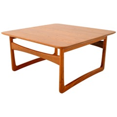 Mid-Century Modern Danish Teak Coffee Table by Tove & Edvard Kindt Larsen, 1960s