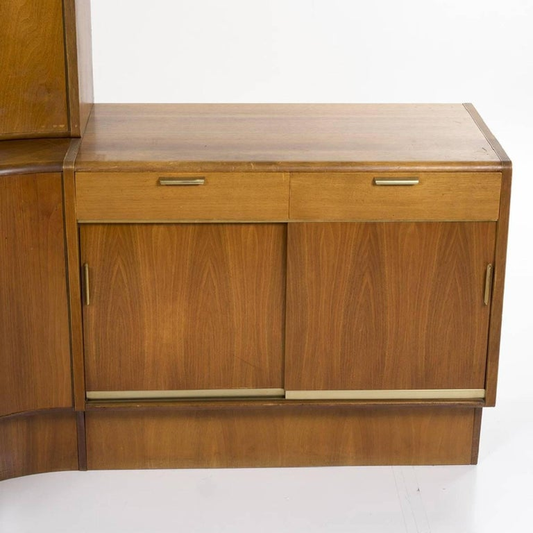 Mid-Century Modern Danish Teak Desk Corner Storage Unit For Sale 1