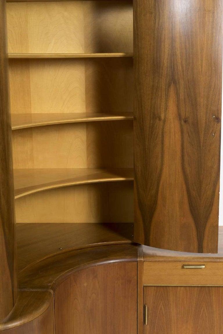 Mid-Century Modern Danish Teak Desk Corner Storage Unit For Sale 2