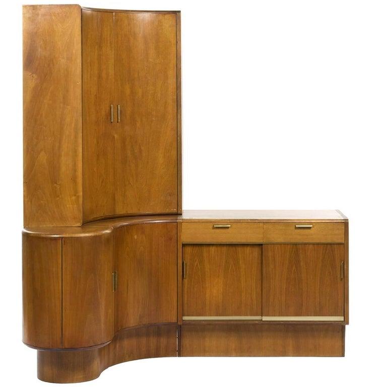 Mid-Century Modern Danish Teak Desk Corner Storage Unit For Sale