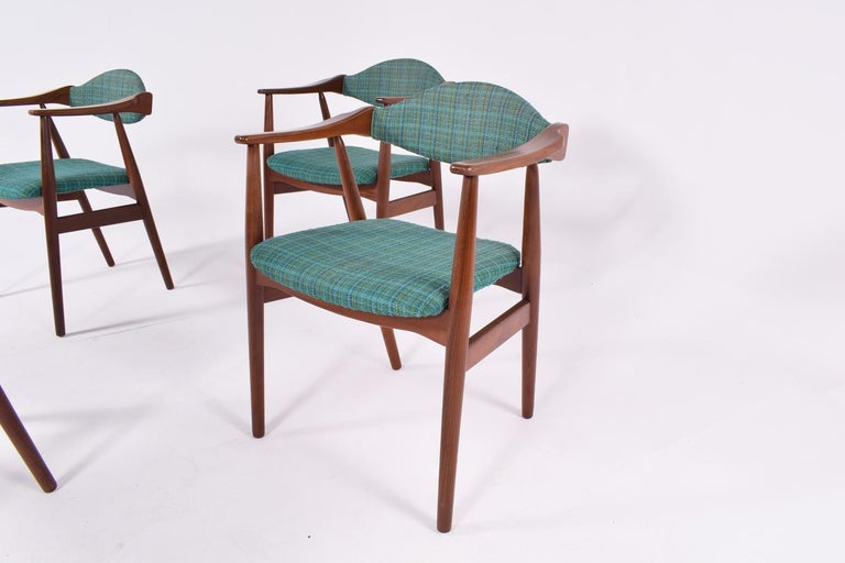 Mid-Century Modern Danish Teak Dining Chairs, 1960s In Good Condition For Sale In Lisboa, Lisboa