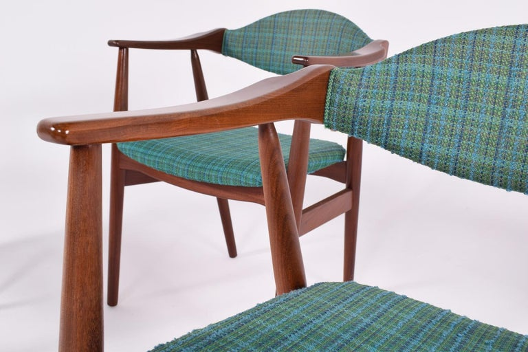 Mid-Century Modern Danish Teak Dining Chairs, 1960s For Sale 1