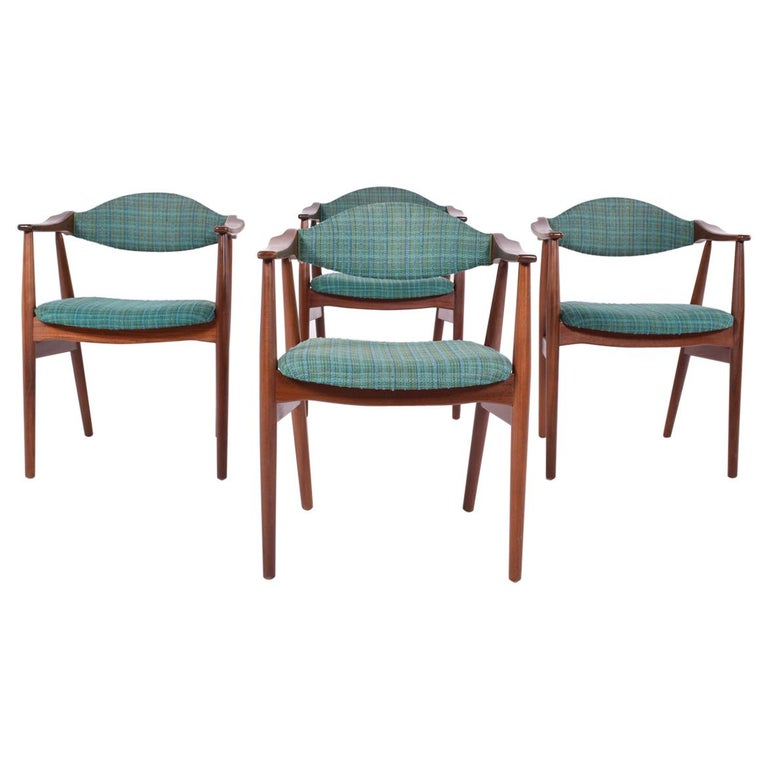 Mid-Century Modern Danish Teak Dining Chairs, 1960s For Sale