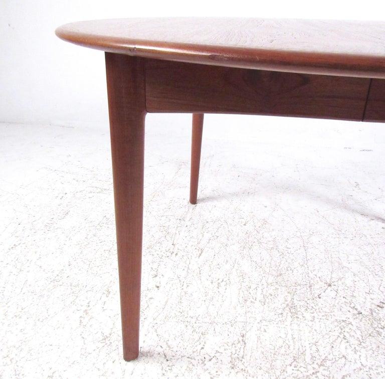 Mid-20th Century Mid-Century Modern Danish Teak Dining Table For Sale